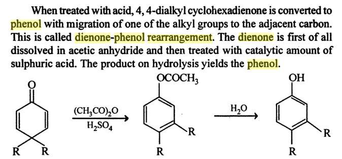 64d Dienone Phenol retropinacol rearrangement