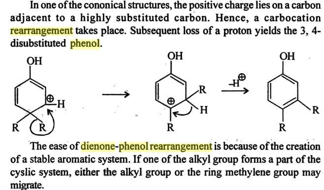 64f Dienone Phenol retropinacol rearrangement
