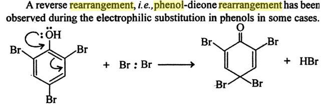 64h Dienone Phenol retropinacol rearrangement