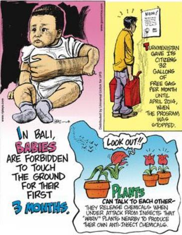 Bali babies are forbidden to touch ground for 3 months