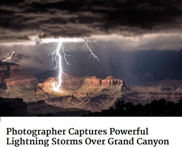 lihtning at grand canyon