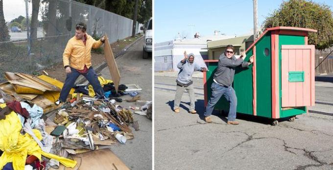 Trash home for homeless