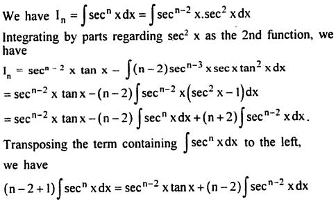 10 Integration reduction formula