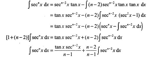 11 Integration reduction formula