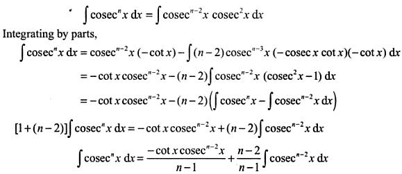 12 Integration reduction formula