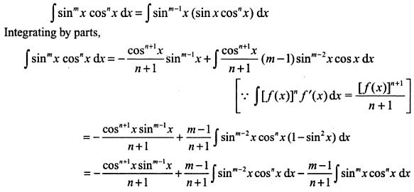 13 Integration reduction formula