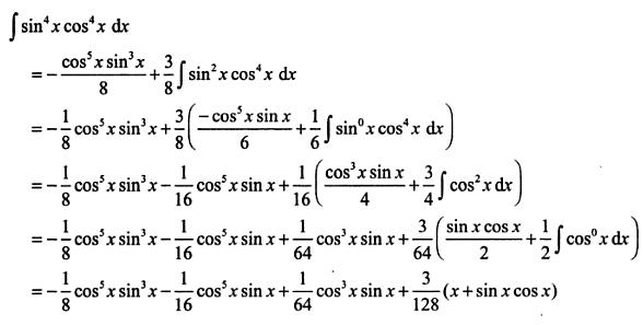 18 Integration reduction formula