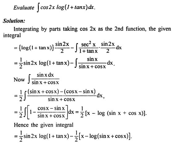 5 Integration Cos 2x log ( 1 plus tan x )