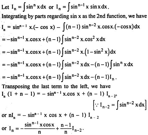 6 Integration reduction formula