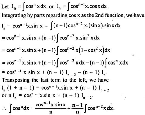 7 Integration reduction formula