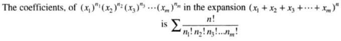 22 coefficient of particular term in multinomial expansion