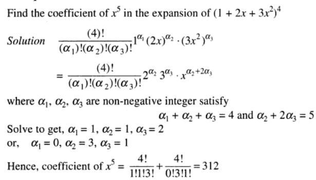 23 coeff of x to the power 5 in multinomial expansion