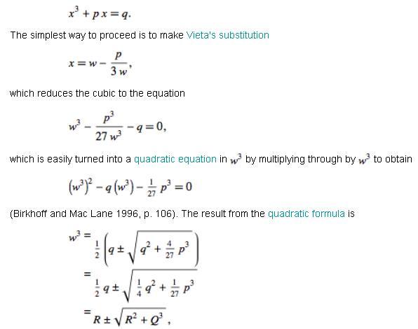 Cubic Equation 10 xcube+px+q=0 x^3+px+q=0