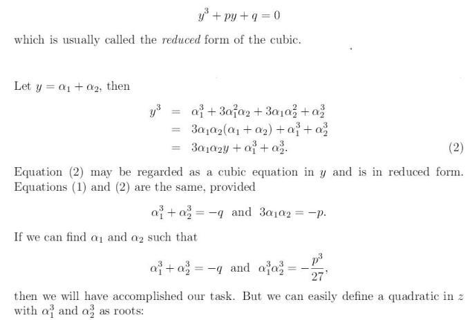 Cubic Equation 11 xcube+px+q=0 x^3+px+q=0