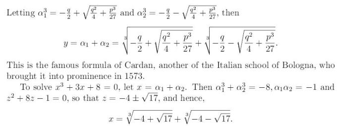 Cubic Equation 13 xcube+px+q=0 x^3+px+q=0
