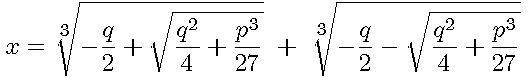 Cubic Equation 2 xcube+px+q=0 x^3+px+q=0