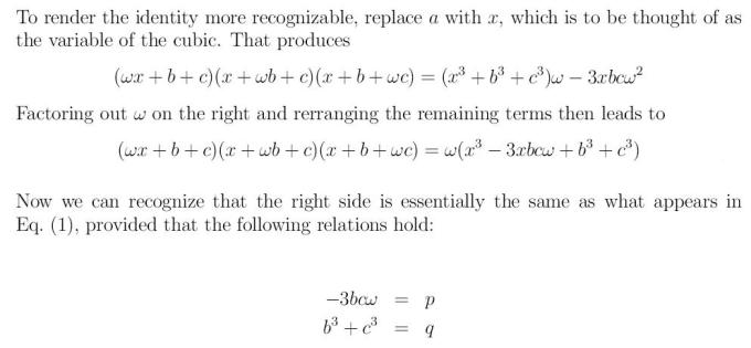 Cubic Equation 5 xcube+px+q=0 x^3+px+q=0