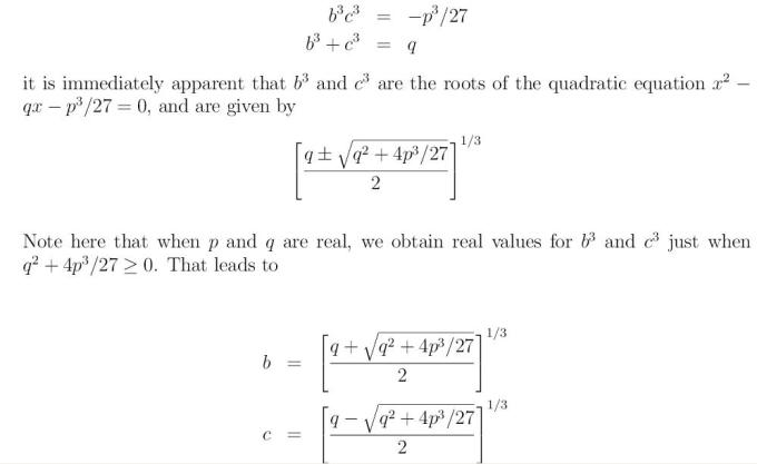 Cubic Equation 6 xcube+px+q=0 x^3+px+q=0