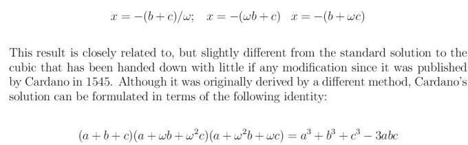 Cubic Equation 7 xcube+px+q=0 x^3+px+q=0