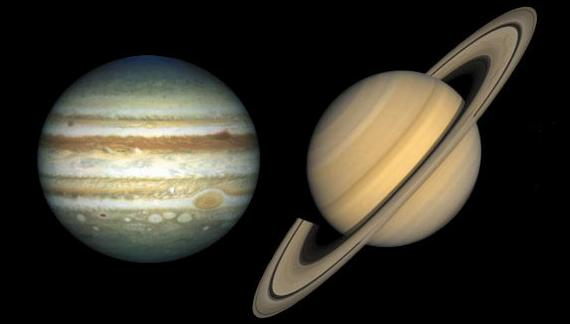 1 Jupiter and Saturn