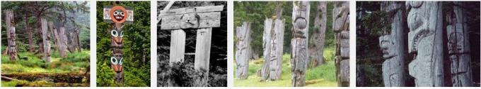 12 Haida Mortuary Totem Poles