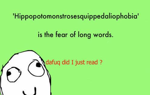 39 fear of long words