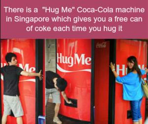 45 cola machine hug me