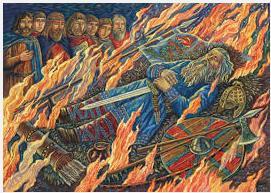 9 Viking funeral