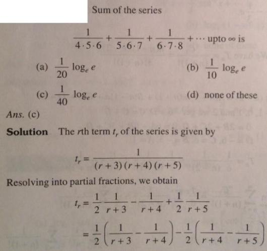 39 Series problems for IIT JEE SKMClasses Subhashish